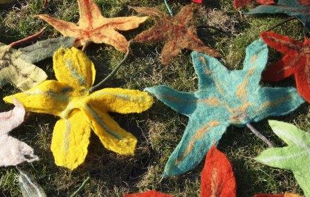 Filzen für das Ahornparkfest