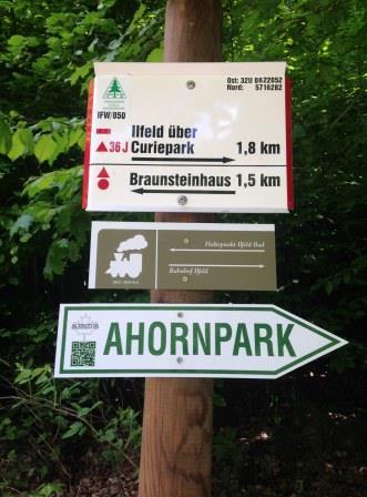 …damit der Ahornpark gefunden wird
