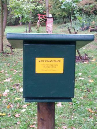 """Unsere Stempelstelle der """"Harzer Wandernadel"""""""